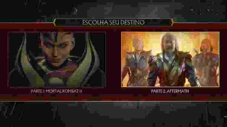 Mortal Kombat 11 Choose your Destiny - Reprodução - Reprodução