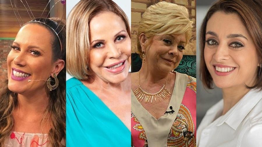 Regina Volpato, Claudete Troiano, Ione Borges e Catia Fonseca - Montagem/Divulgação