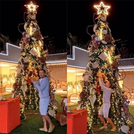 Tamanho da árvore de Natal de Carlinhos Maia chama atenção - Reprodução / Instagram