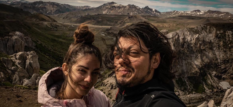 Camila Stano e o namorado, Nelson Ortiz de Zárate, acamparam na Cordilheira dos Andes - Nelson Ortiz de Zárate