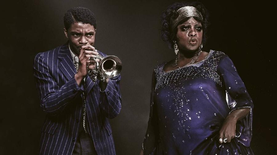 """Chadwick Boseman e Viola Davis em """"A Voz Suprema do Blues"""" - Reprodução"""