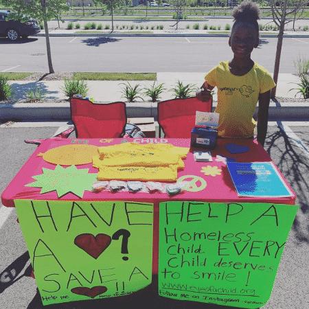 Aos 7 anos, garota cria organização para ajudar crianças sem-teto - Reprodução/Instagram Eye of a Child - Reprodução/Instagram Eye of a Child