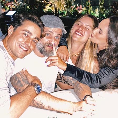 Gio Ewbank e Gagliasso comemoram Dia dos Namorados com Ricardo e Francisca Pereira - Reprodução/Instagram