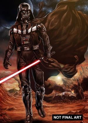 Darth Vader em ilustração feita para a Marvel Comics - Divulgação/Marvel Comics