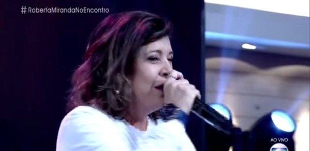 """Roberta Miranda canta no """"Encontro""""; cantora divulgou programa de Galisteu na atração - Reprodução/TV Globo"""