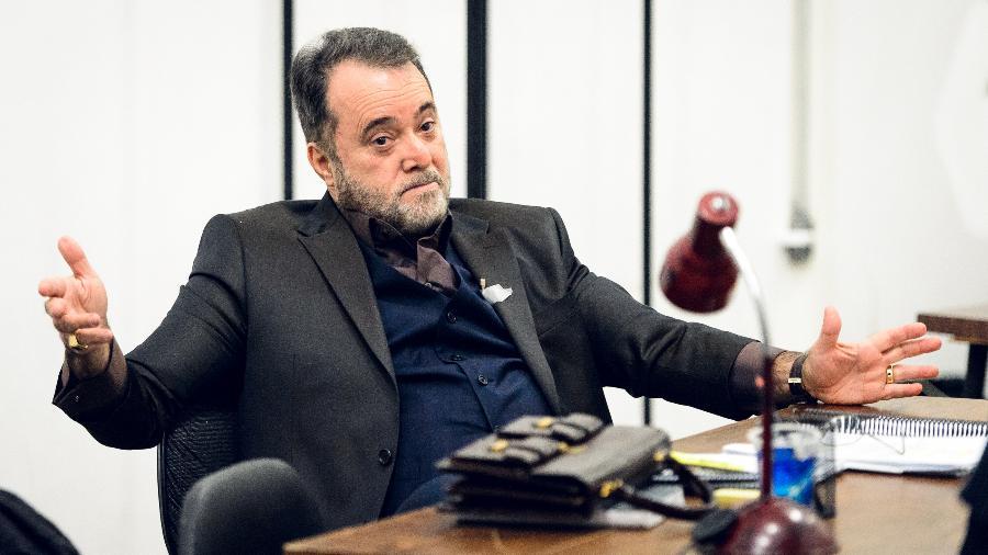 """Acima, Tony Ramos interpretando personagem de """"Vade Retro"""", série que entra no ar este ano na Globo - Ramon Vasconcelos/Rede Globo"""