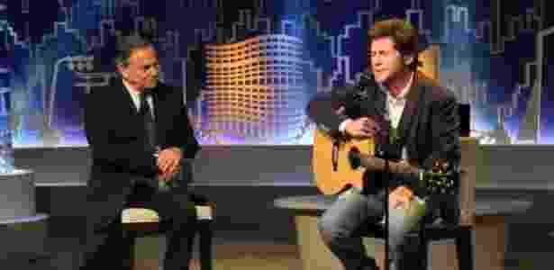 """Ronnie Von recebe Daniel no programa """"Todo Seu"""" - Divulgação - Divulgação"""