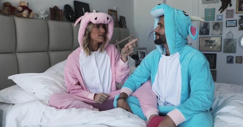 Vestidos de unicórnio, Giovanna Ewbank e Bruno Gagliasso revelam detalhes do relacionamento no canal da atriz no YouTube