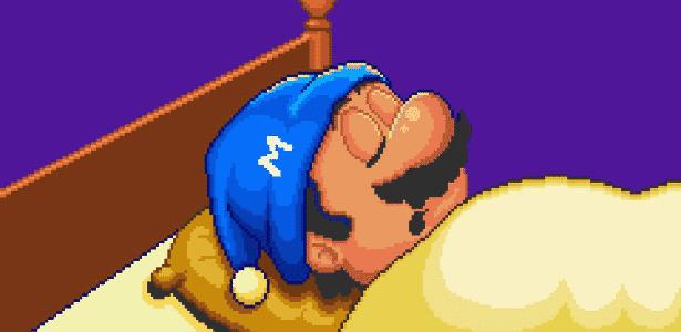 Mario dormindo - Reprodução - Reprodução