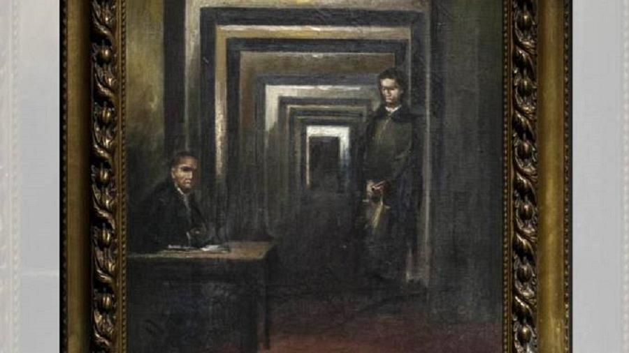 Pintura desconhecida de Hitler no Museo di Salo, na Itália - Museo Della Follia/Reprodução