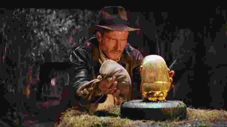"""Cena de """"Indiana Jones e Os Caçadores da Arca Perdida"""" (1981), de Steven Spielberg - Reprodução"""