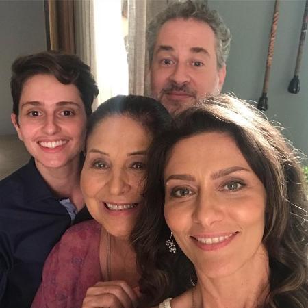 Carol Duarte, Claudia Mello, Dan Stulbach e Maria Fernanda Cândido - Reprodução/Instagram