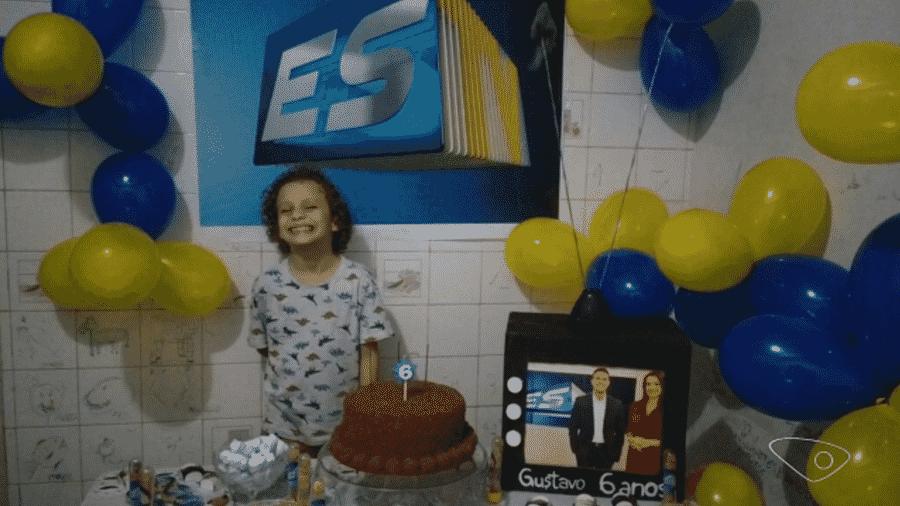 Garotinho autista de 6 anos pede aos pais festa com tema sobre jornal da Globo - Imagem/Arquivo pessoal Reprodução/TV Gazeta/TV Globo