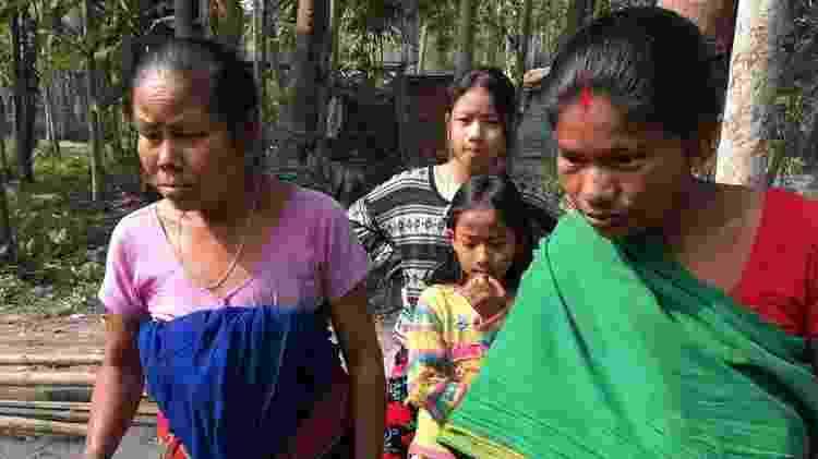 Manamati Boro, avó de Riyan, ainda tem medo de que a criança seja levada da família - BBC - BBC