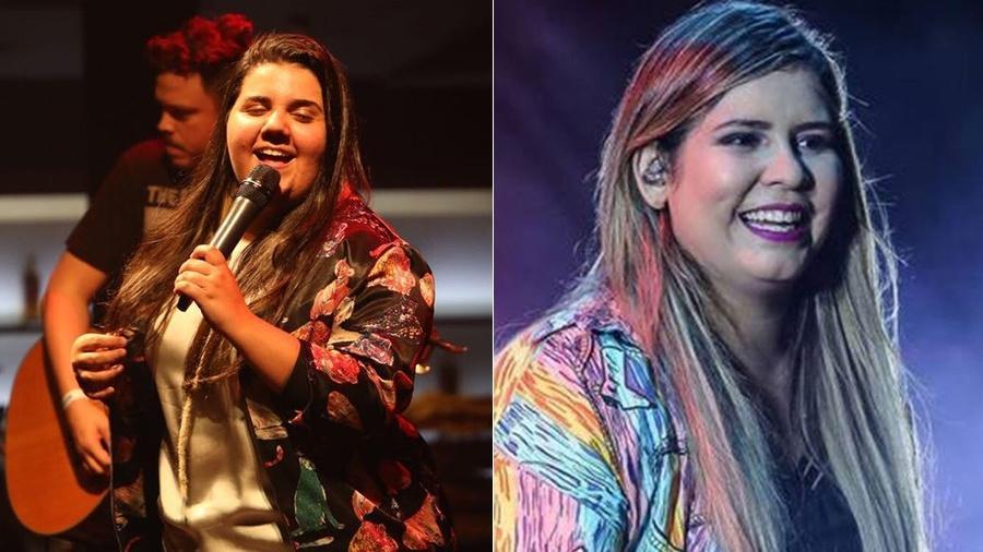 Confundida com Marilia Mendonça, Yasmin Santos prepara CD de estreia - Montagem UOL