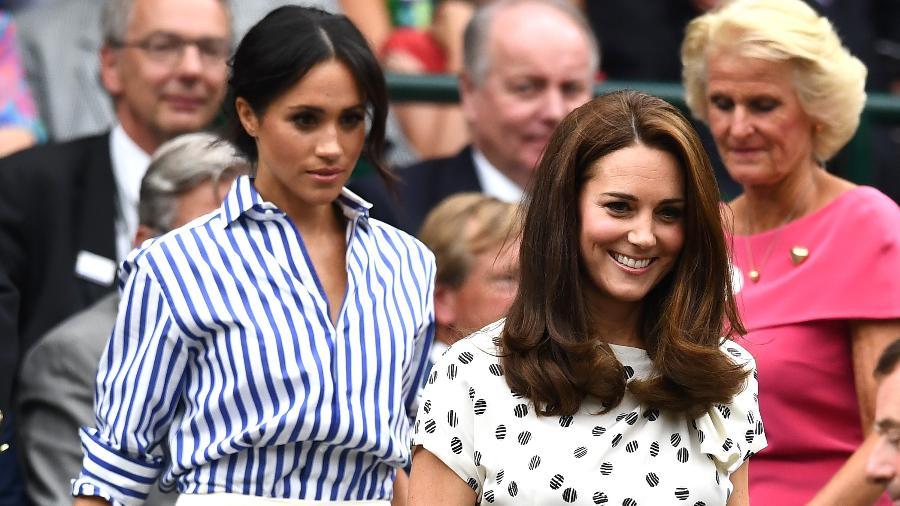 Kate Middleton e Meghan Markle na final do torneio de Wimbledon - Getty Images