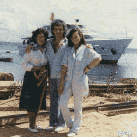 Laura, Roberto Carlos e Myrian Rios - Reprodução/Instagram