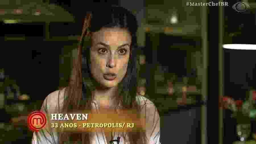 """Heaven Delhaye, participante da terceira edição de """"MasterChef Profissionais"""" - Reprodução/Band"""