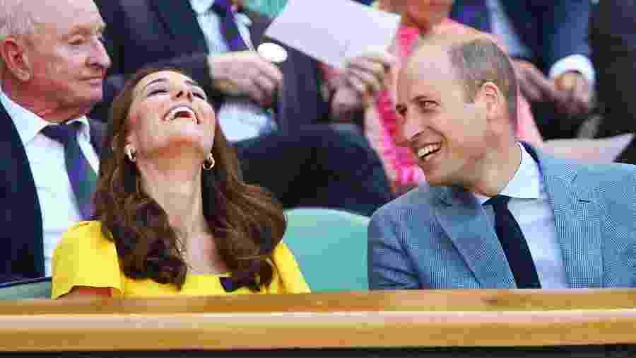 Kate, a duquesa de Cambridge, e o príncipe William em Wimbledon - Getty Images