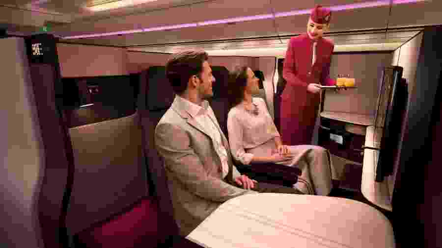 Classe QSuite, da Qatar Airways - Divulgação/Qatar Airways