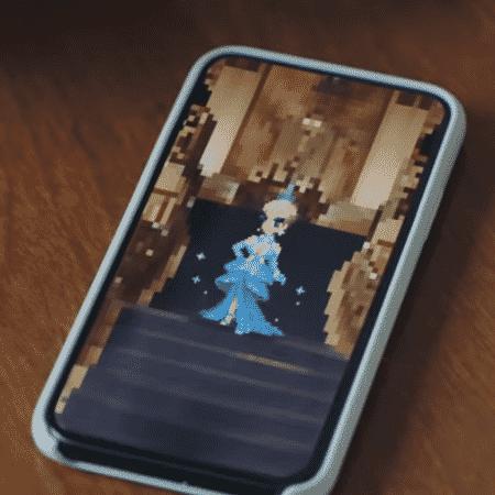 """A cantora Katy Perry vira avatar no game """"Final FantasyBraveExvius"""" - Reprodução/YouTube"""