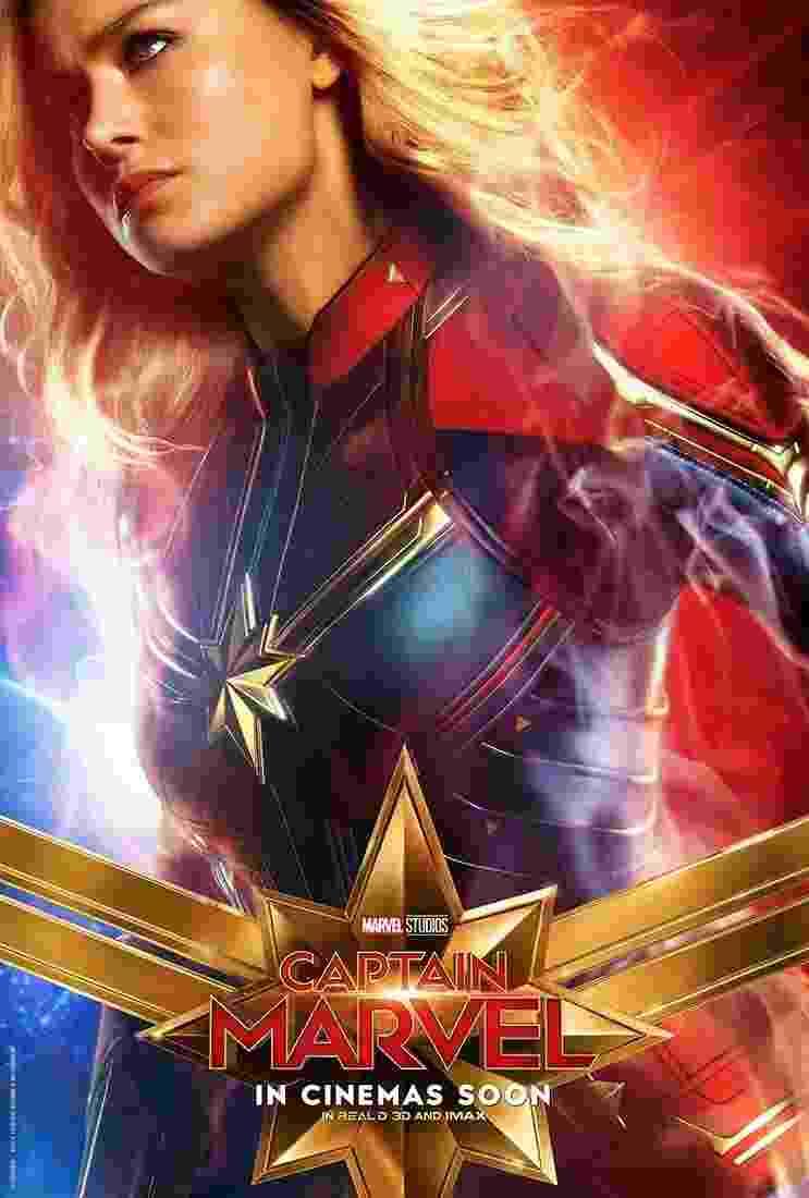 """Brie Larson como """"Capitã Marvel"""". Filme chega aos cinemas brasileiros em 7 de março - Divulgação"""