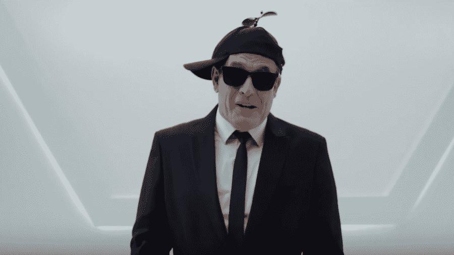 """Sérgio Mallandro em vídeo promocional de """"MIB: Homens de Preto - Internacional"""" - Reprodução/YouTube"""