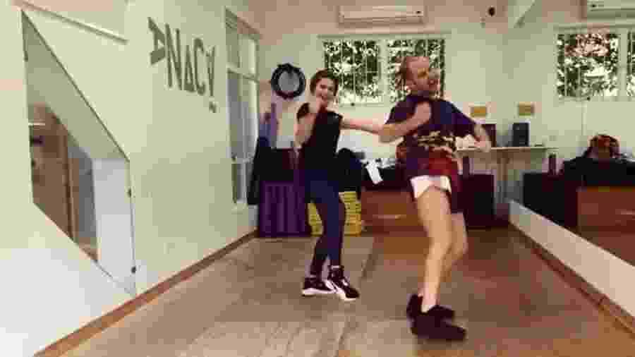 Maisa dança funk com o coreógrafo Justin Neto - Reprodução/Instagram/justneto