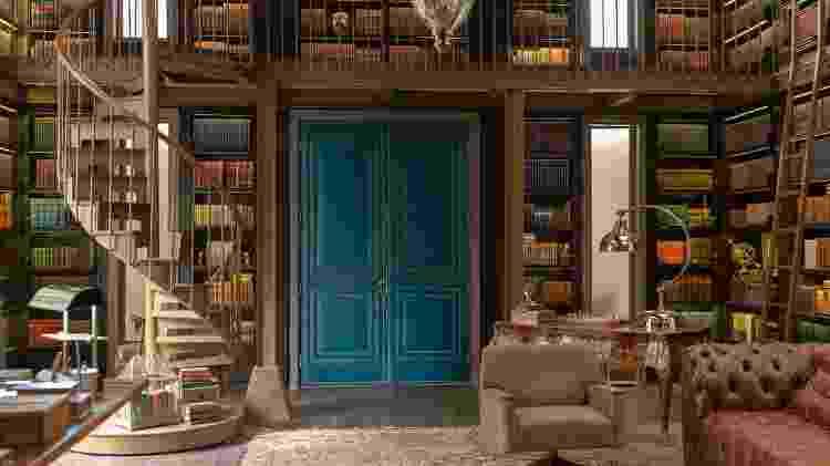 A biblioteca de Alberto (Antonio Fagundes), um dos cenário de Bom Sucesso - Globo/Ellen Soares