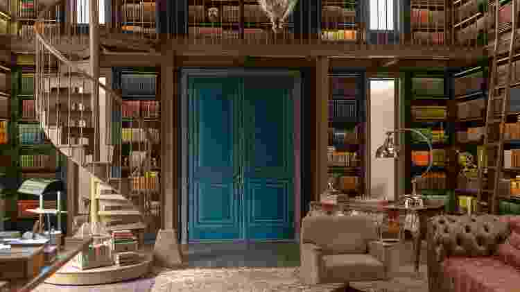 A biblioteca de Alberto (Antonio Fagundes), um dos cenário de Bom Sucesso - Globo/Ellen Soares - Globo/Ellen Soares