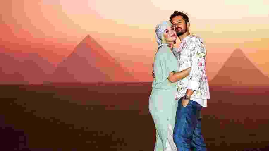 Katy Perry e Orlando Bloom no Egito - Reprodução/Instagram