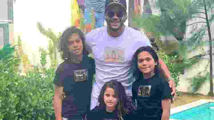 Hulk passou o Natal com os filhos Ian, Thiago e Alice - Reprodução/Instagram - Reprodução/Instagram