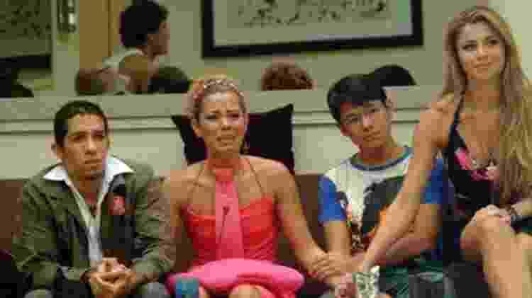 Jean, Pink, Sammy e Grazi no BBB em 2005 - Reprodução/Globo