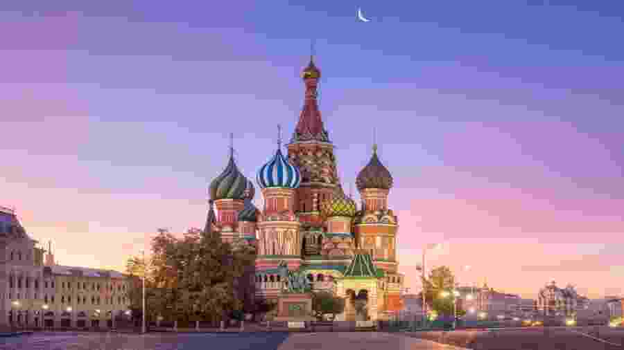 Catedral de São Basílio em Moscou, na Rússia - Getty Images/iStockphoto