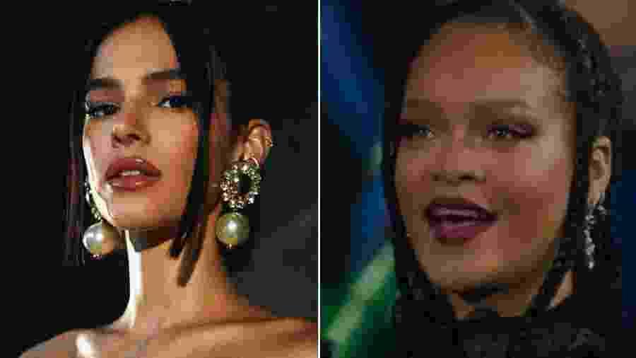Bruna Marquezine se derreteu pelo desfile de lingerie de Rihanna - Reprodução/Instagram