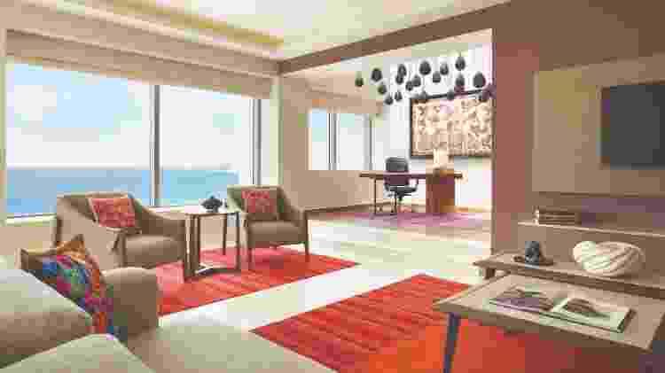 Suíte com espaço para trabalho no Hyatt Ziva, em Cancun  - Divulgação - Divulgação