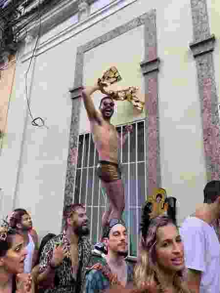 Rafael Silva curtindo a festa no Rio de Janeiro, no início de 2020 - Arquivo Pessoal