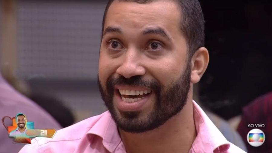 BBB 21: Gilberto na noite do paredão - Reprodução/ Globoplay