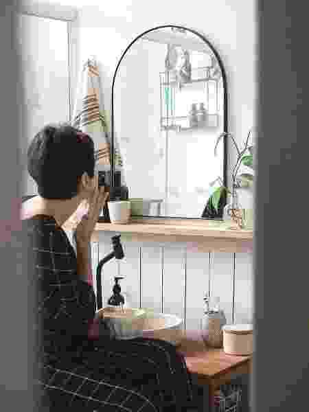 Espelho foi um dos toques especiais no banheiro de Rebeca - Arquivo pessoal - Arquivo pessoal