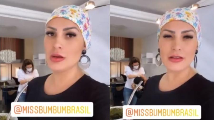 Andressa Urach reclama de ataques contra participantes do Miss Bumbum 2021 - Reprodução/Instagram
