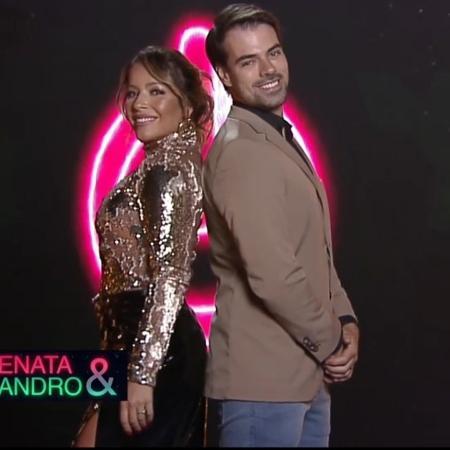 Power Couple 2021: casal Renata Dominguez e Leandro Gléria - Divulgação/Record TV
