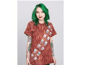 Camiseta Star Wars Saga Peitoral Chewie, Piticas, Unissex - Divulgação - Divulgação
