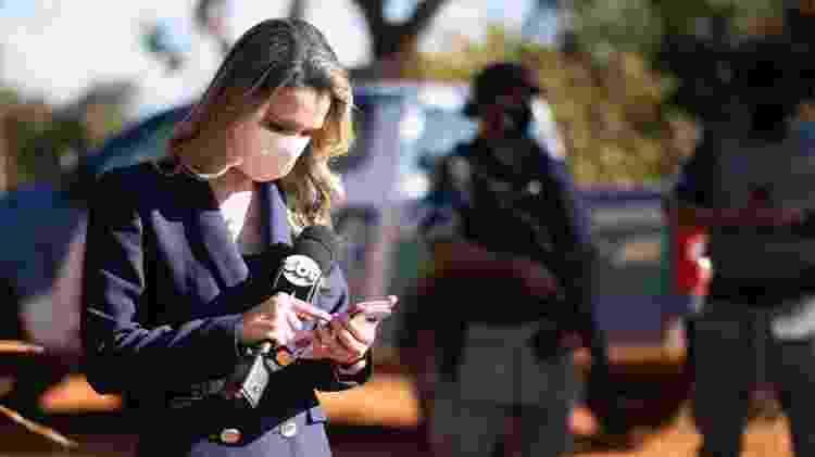 Vanessa Vitória durante cobertura do caso Lázaro para o SBT - Reprodução/Instagram - Reprodução/Instagram