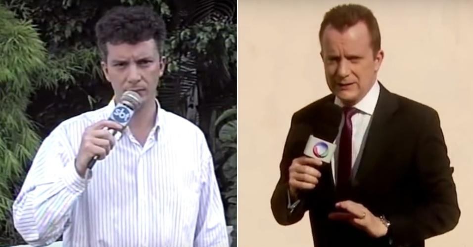"""Antes do """"Aqui Agora"""", Celso Russomanno entrevistava famosos em festas. No telejornal do SBT, investiu em defesa do consumidor e está no ramo até hoje, na Record"""