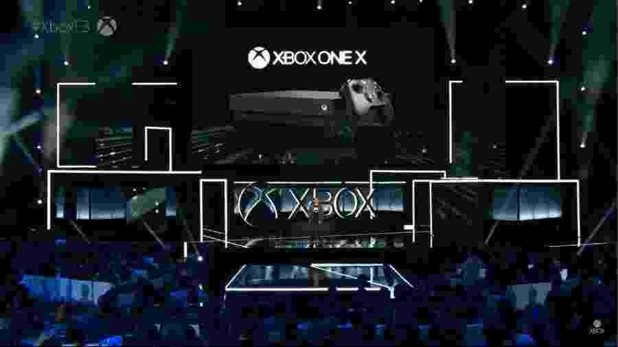 Apresentado durante a conferência da Microsoft na E3 2017, o Xbox One X terá uma boa variedade de games - Reprodução