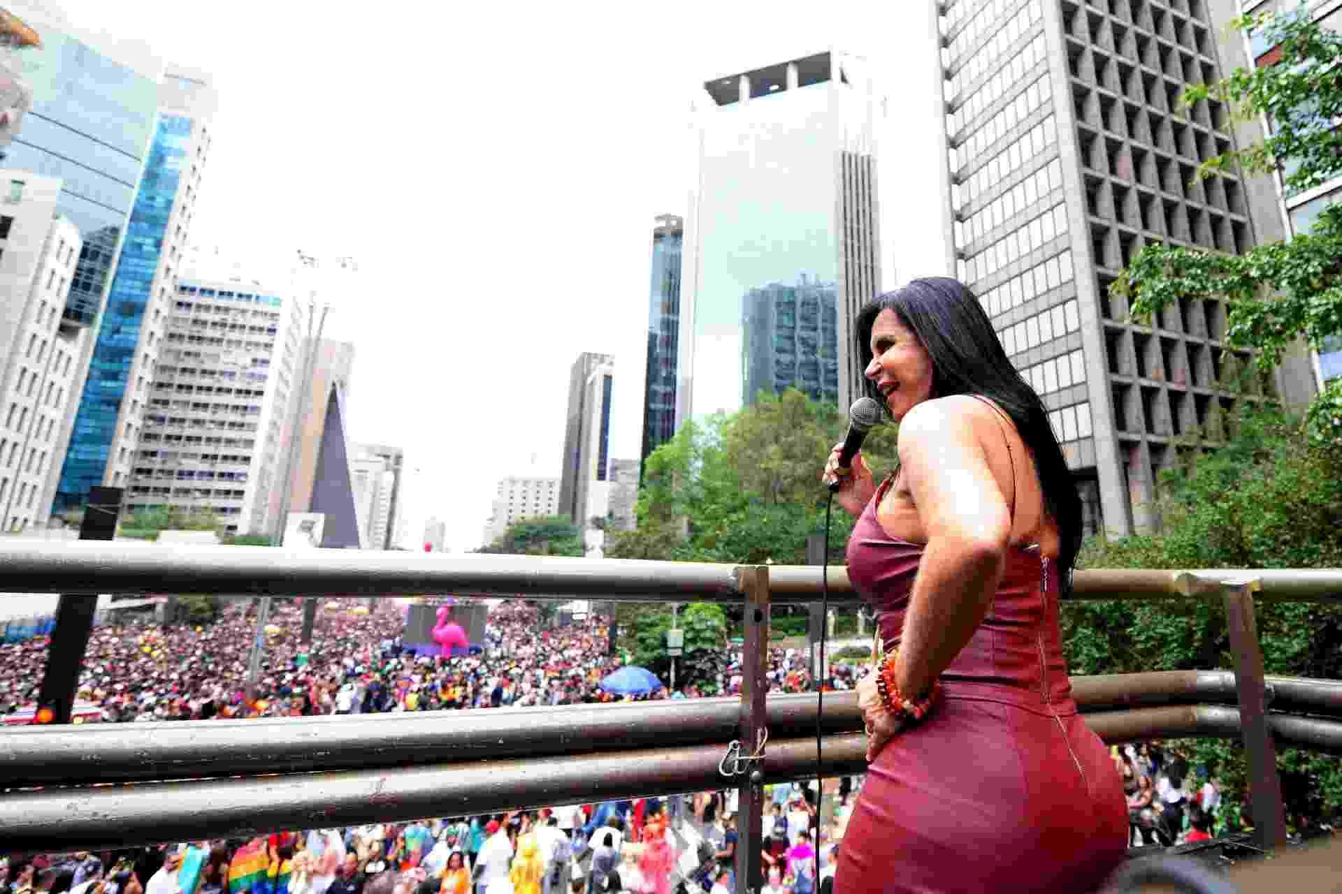Gretchen dá show no último trio da 22ª Parada do Orgulho LGBTI+ de SP - Junior Lago/UOL