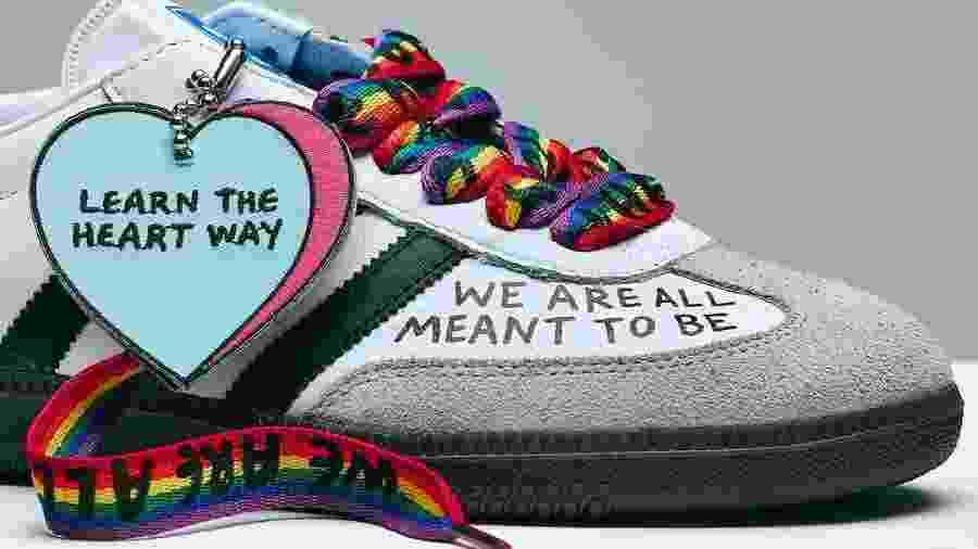 Elton John, Marc Jacobs e Kate Moss recriam tênis Adidas para campanha LGBT d6bebb1dd7