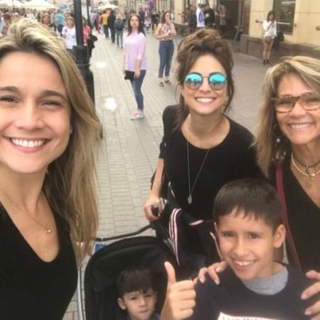 Fernanda Gentil com a família na Rússia - Instagram