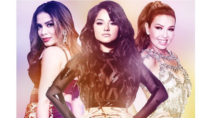 Anitta, Becky G. e Thalia - Reprodução/Billboard
