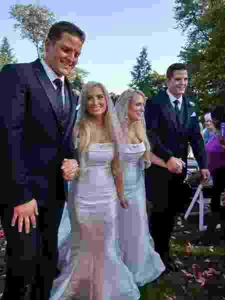 Dupla de gêmeos idênticos casa-se nos EUA - arquivo pessoal